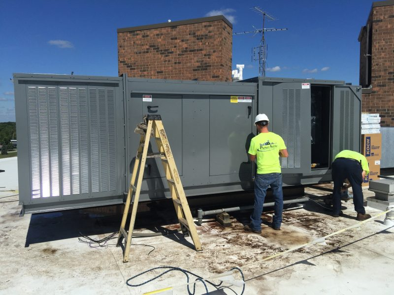 Rooftop AC Unit Install Greenville MI
